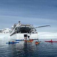 Antarctica Greg Mortimer Aurora Expeditions kayaks