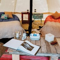 Glamping tent in Bariloche Patagonia Argentina Alchemy Contours Travel