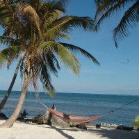 Best time to visit Belize. Ambergris Caye during dry season.