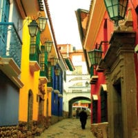 Colourful street in La Paz Bolivia Protours Contours Travel