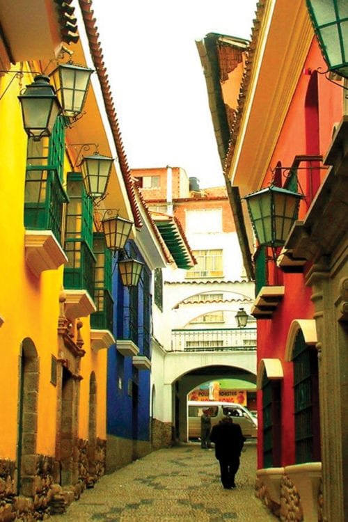 Colourful street in La Paz Bolivia, Contours Travel