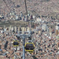 Landscape Cable Car in La Paz Bolivia Magri Contours Travel