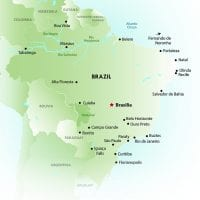 Brochure Contours Travel Brazil map