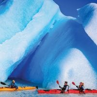 Chile Patagonia Torres del Paine Kayaking in Lago Grey Protours Contours Travel