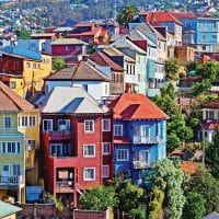 Colourful houses on the hills of Valparaiso Chile Protours Contours Travel