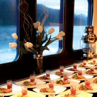 Contours Travel Australis Cruise fine dinning
