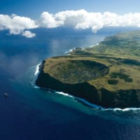 Chile Easter Island aerial view Contours Travel