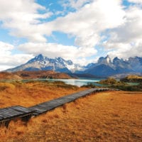 Chile Patagonia Torres del Paine walkway Explora Patagonia Contours Travel