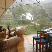 Chile Patagonia Paine Cascada dinning dome