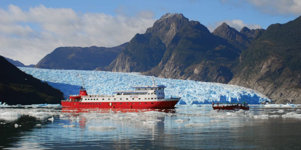 Chile Patagonia Ice fjords Contours Travel