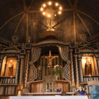 Chile Tierra Chiloe church from inside Contours Travel