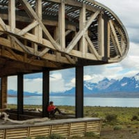 Chile Tierra Patagonia building lake view Contours Travel