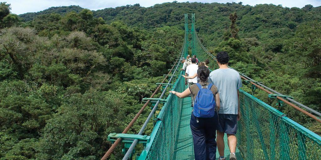 Monteverde canopy walk Costa Rica Central America Contours Travel