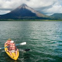 Lake Arenal Costa Rica Central America Contours Travel