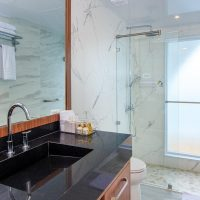 Elite suite restroom Galapagos Ecuador Golden Galapagos Contours Travel