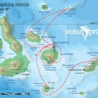 8B itinerary map Ocean Spray Galapagos Ecuador Haugan Contours Travel