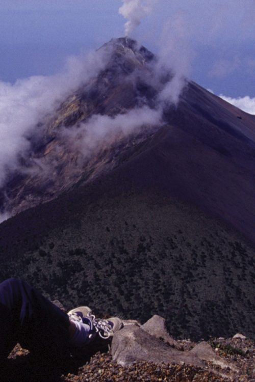 Guatemala Via Venture view of fuego volcano from acatenango Contours Travel