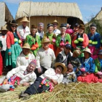 Treasures of South America Small Group Tour Contours Travel in Uros reed island on Lake Titicaca, Peru