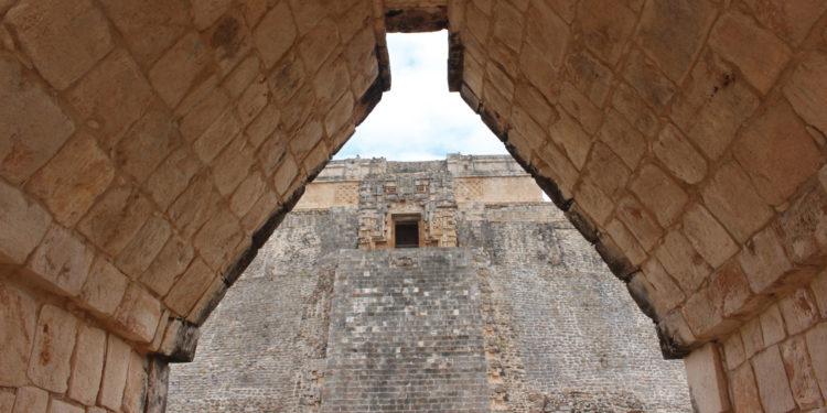 Uxmal arch in Yucatan
