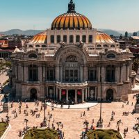 Mexico Canva Bellas Artes Mexico City Contours Travel