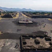 Mexico Mexico City Canva Teotihuacan pyramids Contours Travel