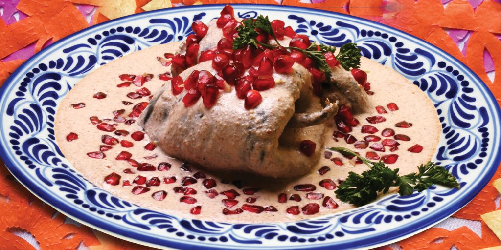 Chiles en Nogada, a season-only dish Culinary Food Mexico SECTUR Contours Travel