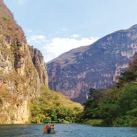 Boat ride in Sumidero Canyon Chiapas Mexico Condor Verde Contours Travel