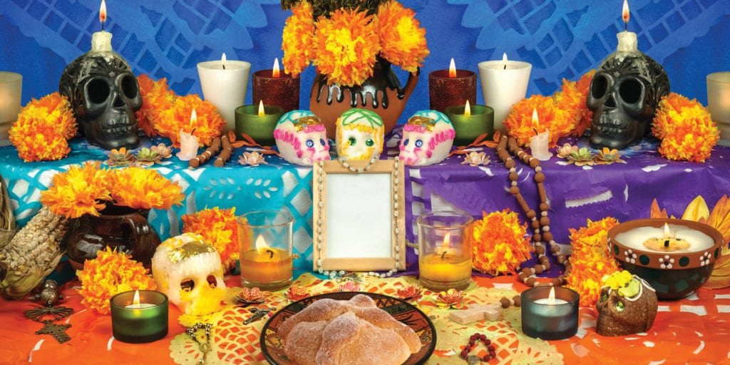Mexico's day of the dead altar celebration