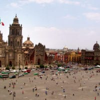 Mexico Mexico City Zocalo Plaza Contours Travel