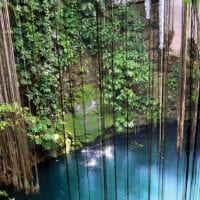 Cenote in Yucatan Mexico