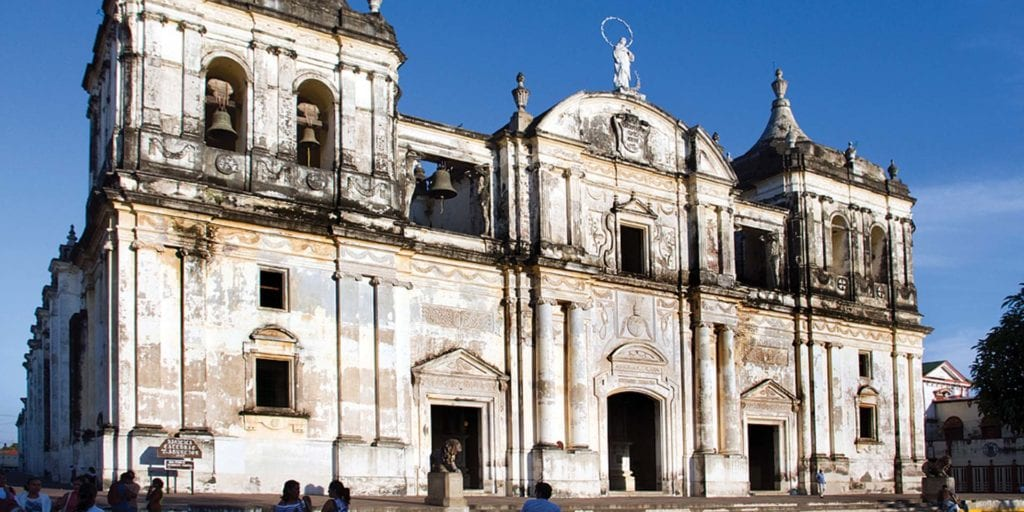Best time to visit Nicaragua. Leon Cathedral. Visit Leon from November to August.