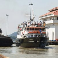 Cruise on Panama Canal Miraflores Locks Contours Travel