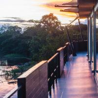 Observation deck Aria Amazon Cruise Iquitos Amazon Peru Aqua Expeditions Contours Travel