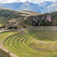 Landscape Moray rings, Sacred Valley in Peru Condor Contours Travel