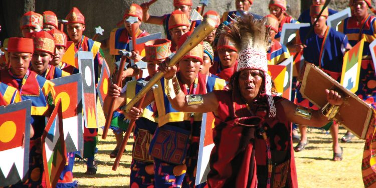 Marching during the Inti Raymi ceremony in Cuzco, Peru Ben Price Contours Travel