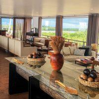 Peru Iquitos Jungle Experiences Zafiro Cruise Indoor lounge Contours Travel