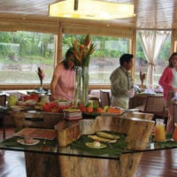 Dining onboard Iquitos Amazon Peru Delfin II Cruise Contours Travel