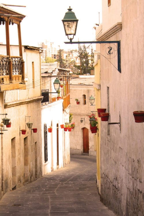 Peru Arequipa streets of Arequipa Contours Travel