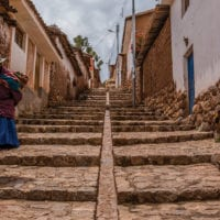 Street in Chinchero Sacred Valley of the Incas Peru Contours Travel