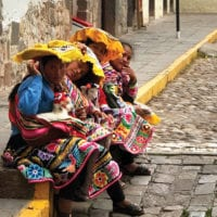 Ladies in the streets of Cuzco Peru Diego Curutchet Contours Travel
