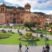 Main square in Cuzco Peru Contours Travel