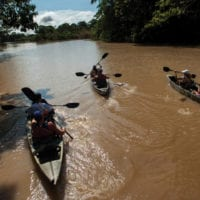Kayaking Amazon activities Iquitos Peru Delfin Cruise Contours Travel