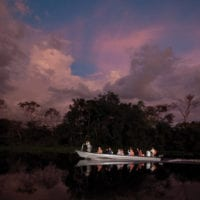 Night exploration activities Iquitos Amazon Peru Delfin Cruise Contours Travel