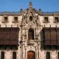 Archbishop's Palace in Lima Peru Condor Travel Contours Travel