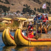 Peru Uros reed island on Lake Titicaca Metropolitan Touring Contours Travel