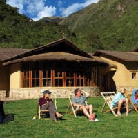 Peru Mountain Lodges Salkantay people resting in Colpa Lodge Contours Travel