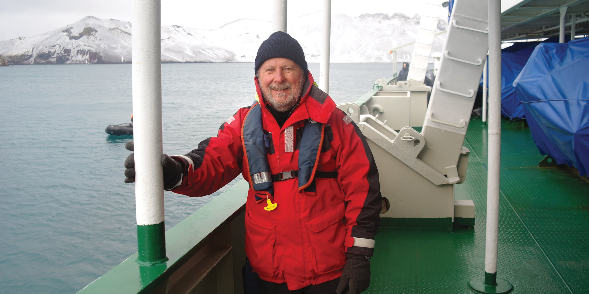 Ted in Antarctica